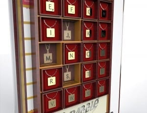 scrabble countertop display